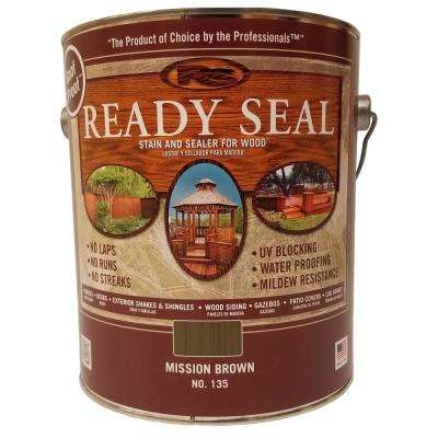 1 gal. Mission Brown Exterior Wood Stain and Sealer