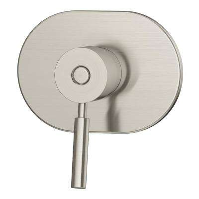 Sereno Lever 1-Handle Wall-Mounted Diverter Trim Kit in Satin Nickel (Valve Included)