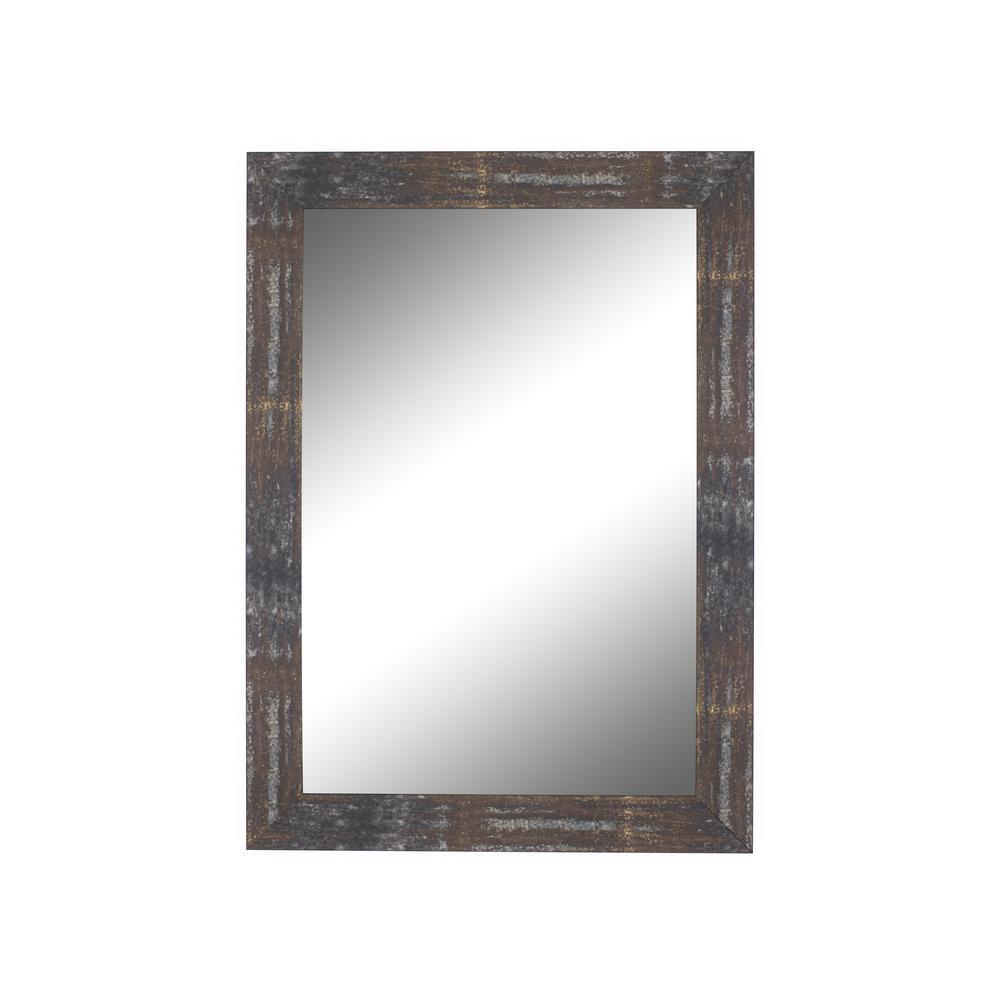 Medium Rectangle Copper Casual Mirror (36.5 in. H x 26.5 in. W)