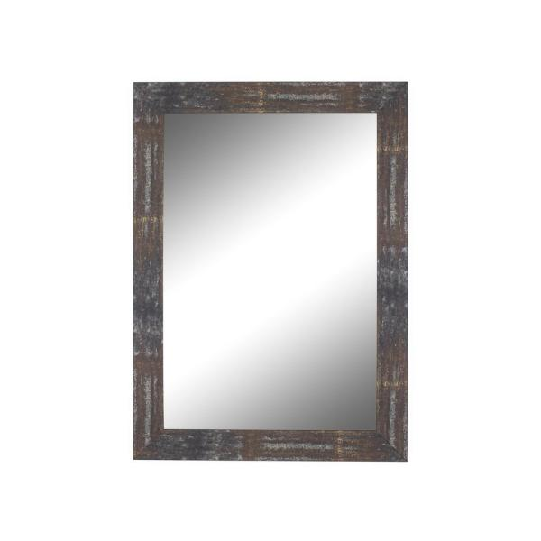 Medium Rectangle Copper Casual Mirror (35.5 in. H x 17.5 in. W)