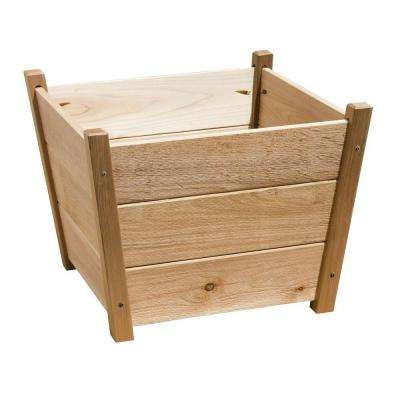 21 in. x 15.75 in. Natural Cedar Alta Square Planter