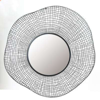 Metal Wire Frame Wall Mirror