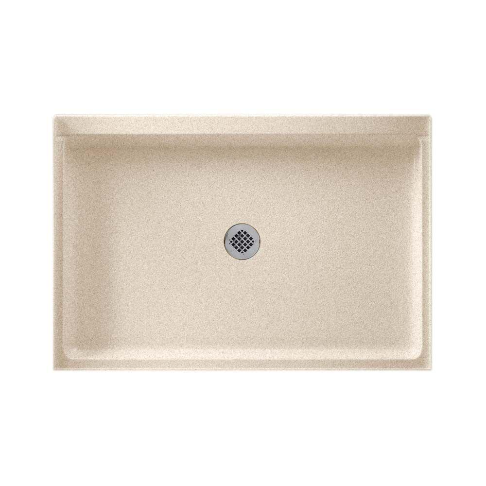 Swan 32 in. x 48 in. Solid-Surface Single Threshold Shower Floor in Bermuda Sand