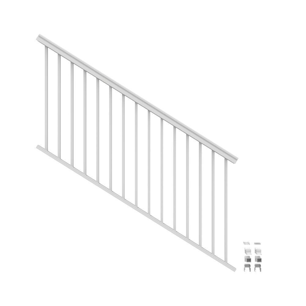 VersaRail 6 ft. x 36 in. White Aluminum Rail Stair Kit