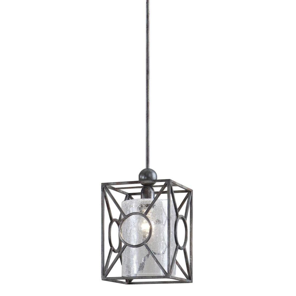Global Direct 1-Light Rust Black Mini Pendant