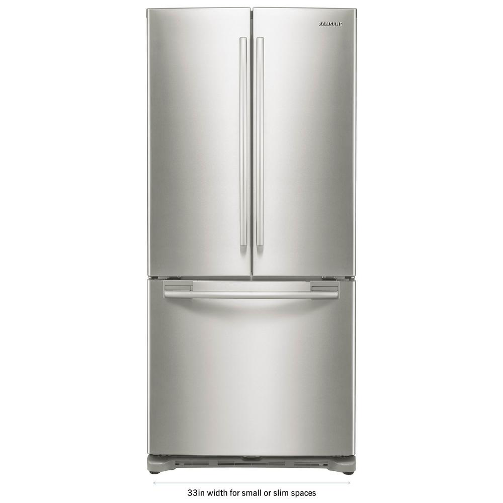 French Door Refrigerator in Stainless Steel  sc 1 st  The Home Depot & Samsung 33 in. W 17.5 cu. ft. French Door Refrigerator in Stainless ...