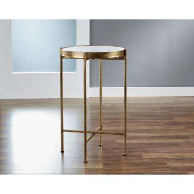 Small Gild Pop Up White Tray Table