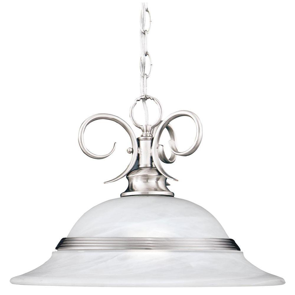 Thomas Lighting Syracuse 1-Light Brushed Nickel Pendant-DISCONTINUED