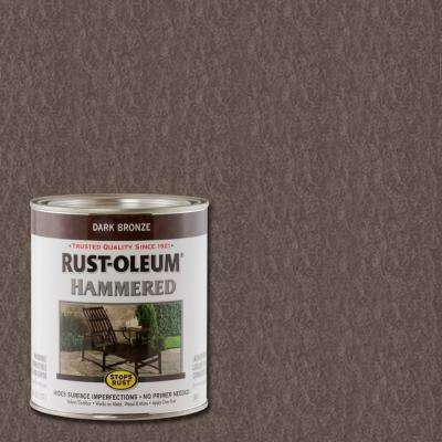 1 qt. Dark Bronze Hammered Rust Preventive Interior/Exterior Paint (Case of 2)