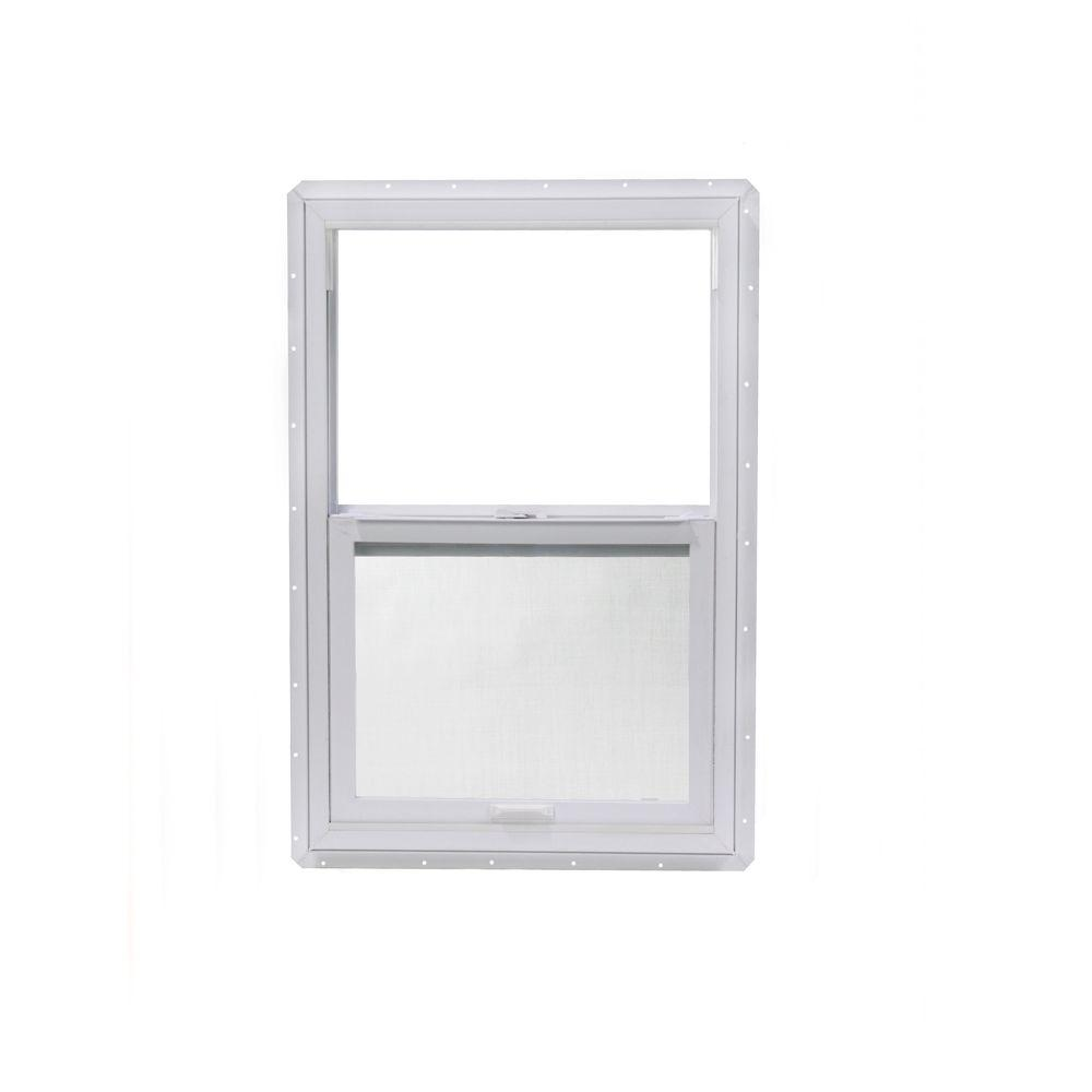 23.5 in. x 35.5 in. Single Hung Vinyl Window Insulated, White