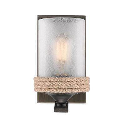 Chatham 1-Light Gunmetal Bronze Bath Vanity Light