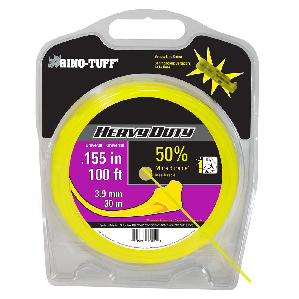 Rino Tuff Heavy Duty 0 155 In X 100 Ft Universal Trimmer Line