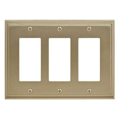 Mulholland 3-Rocker Wall Plate, Golden Champagne