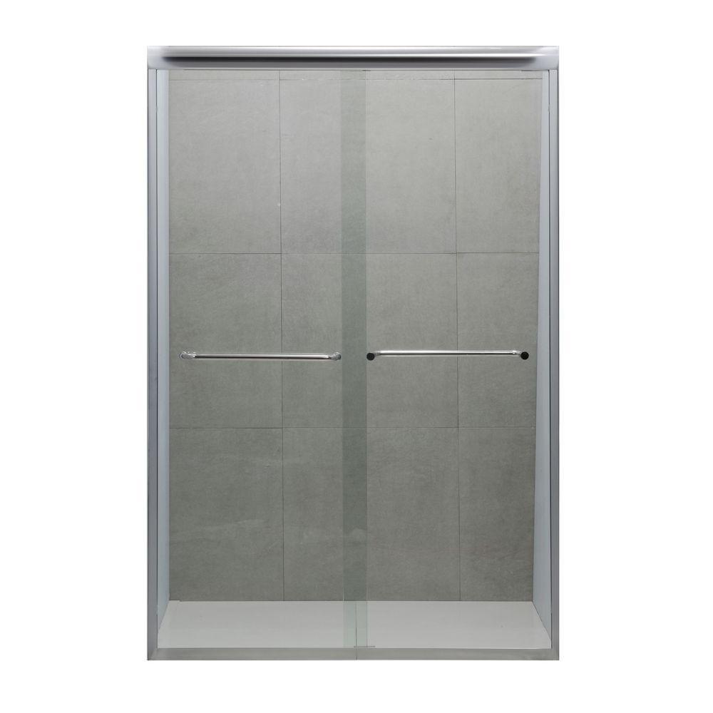 Dreamwerks 48 In X 72 In Semi Framed Bypass Shower Door In