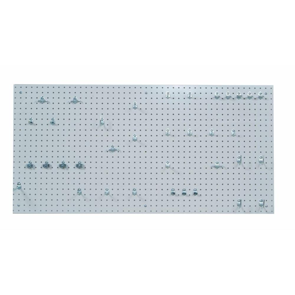 DuraBoard 9/32 in. White Polypropylene Pegboards with Locking Hook Assortment (36-Piece)