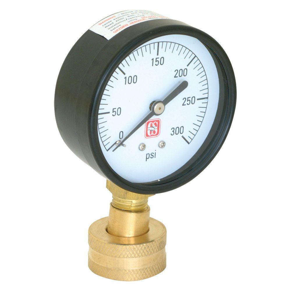 Eastman 3/4 in. Brass Water Pressure Test Gauge
