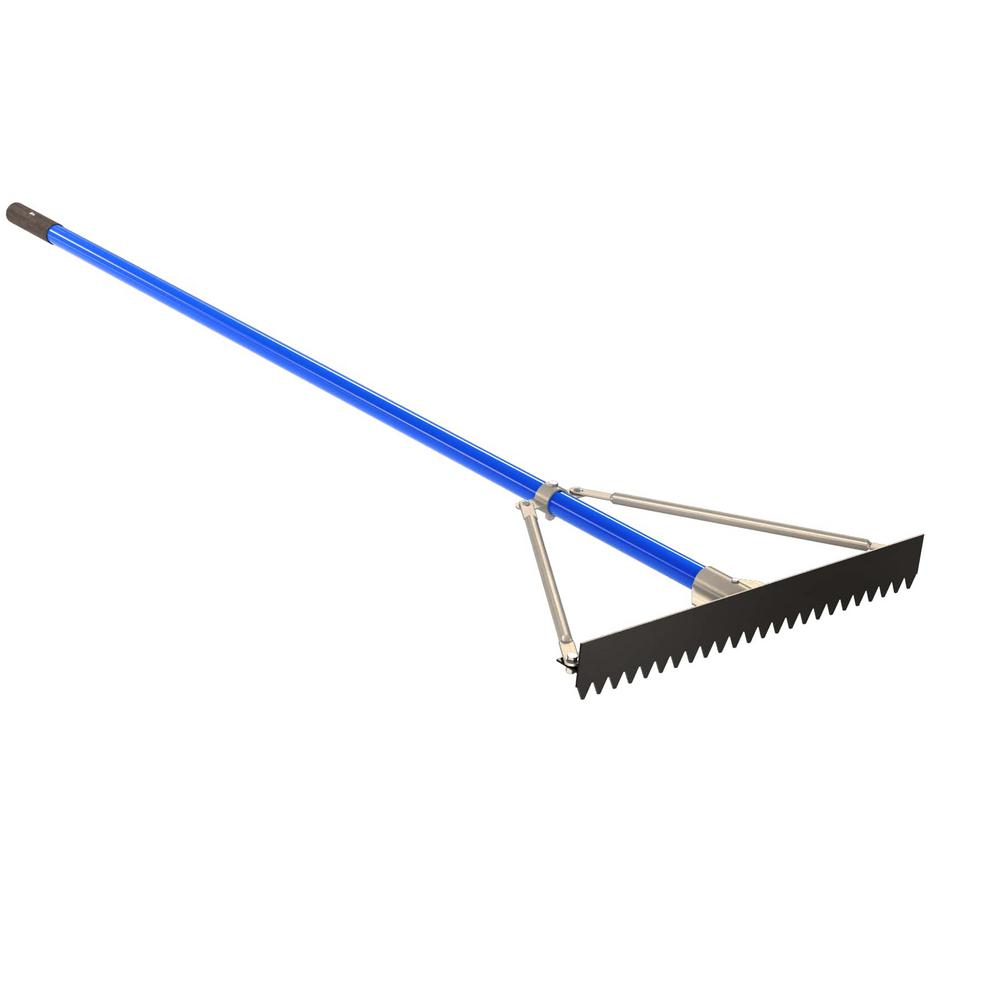 24 in. Base/Lute Rake with 6 ft. Aluminum Handle