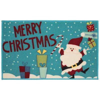 Be Merry Tonight 18 in. x 30 in. Printed Holiday Mat