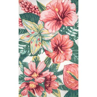 Contemporary Floral Sabrina Multi 6 ft. x 9 ft. Indoor/Outdoor Area Rug