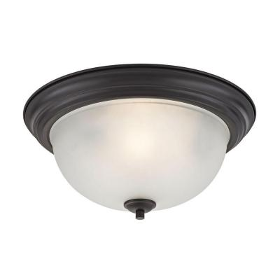 Bristol Lane 3-Light Oil-Rubbed Bronze Flushmount