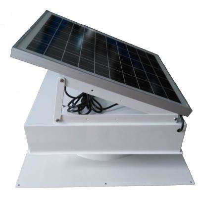 40-Watt 1,875 CFM Solar Hybrid-Capable Green House Fan