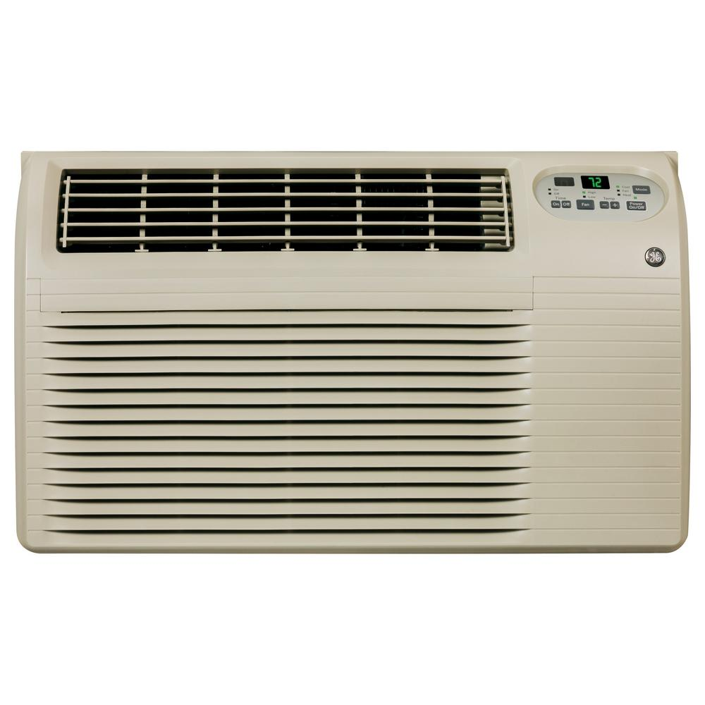 GE 12,000/11,800 BTU 230/208-Volt Through-the-Wall Air Conditioner with Heat and Remote