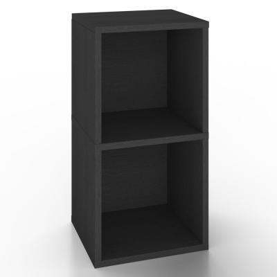 zBoard Black 2-Shelf Vinyl Record and LP Record Album Storage Shelf