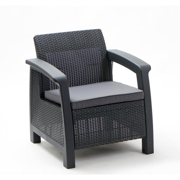 Keter Bahamas Gary All Weather Resin, Plastic Wicker Patio Furniture