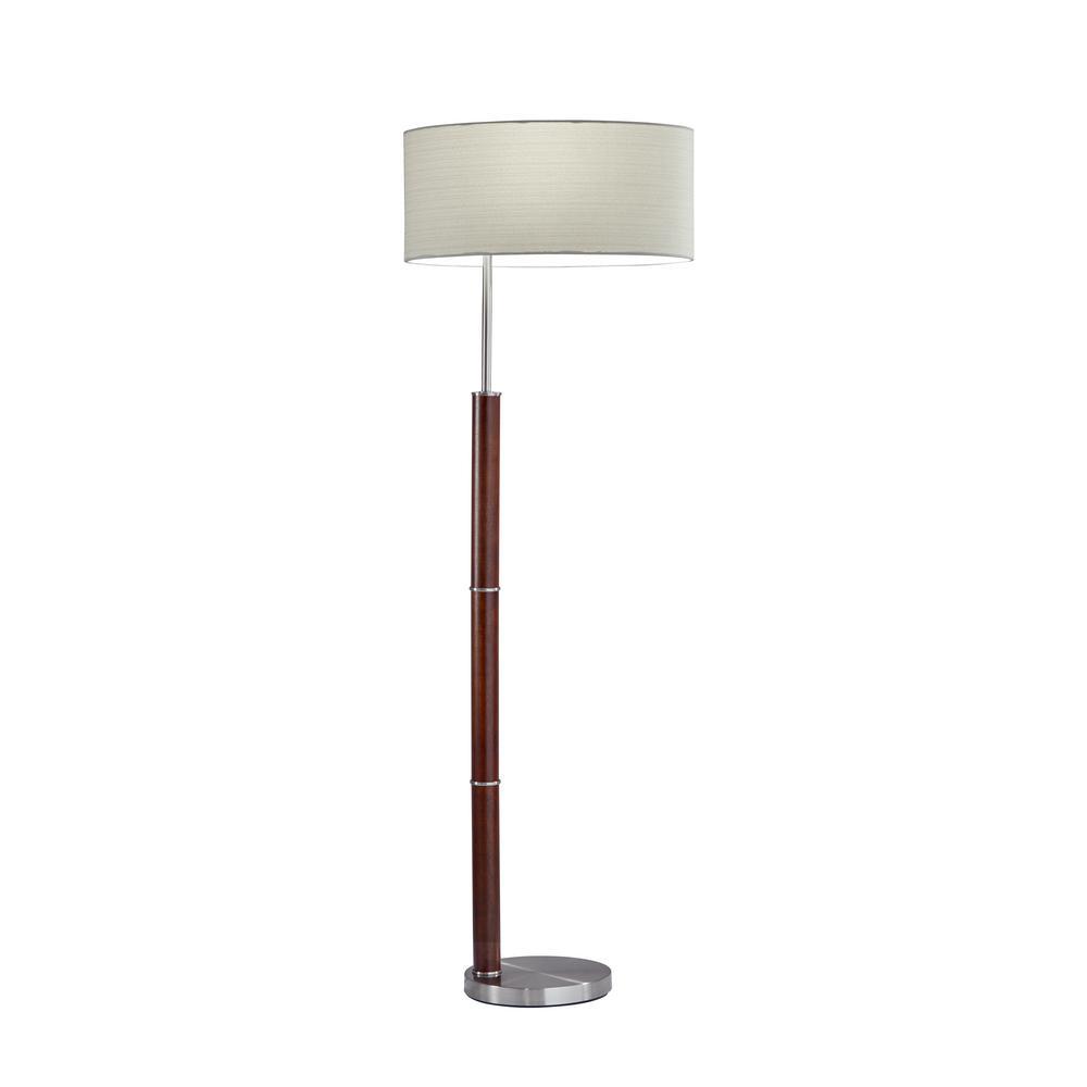 Adesso Hunter 58 In. Steel Floor Lamp-4178-15