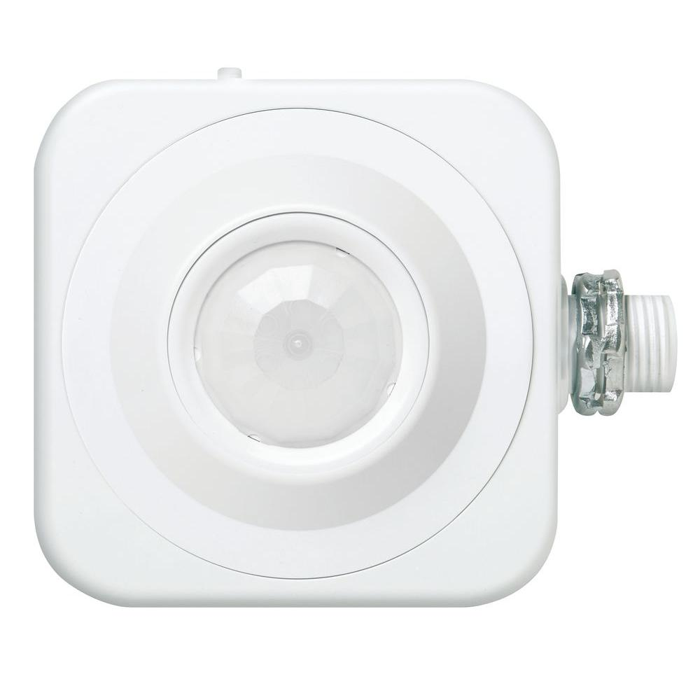 Lithonia Lighting Fixture Mount Extended Range 360° Passive Infrared Occupancy  Sensor   White