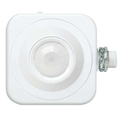 Fixture Mount Extended Range 360° Passive Infrared Occupancy Sensor - White