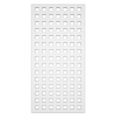 Classic 2 ft. x 4 ft. White Vinyl Decorative Screen Panel (Pack of 2)