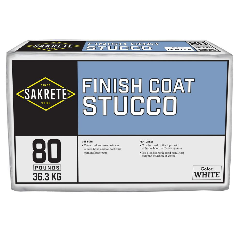 SAKRETE 80 lb. White Stucco Finish Coat
