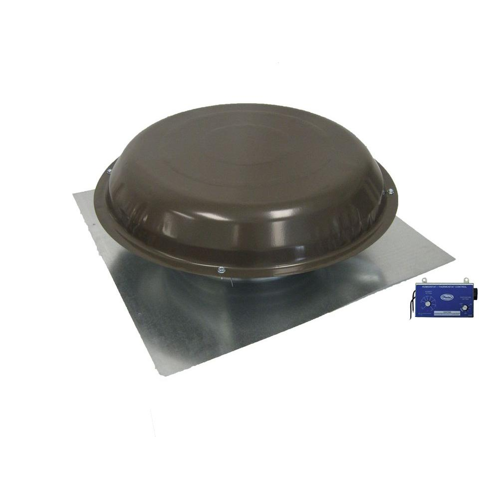 Master Flow 1250 Cfm Roof Mount Power Vent With Thermostat