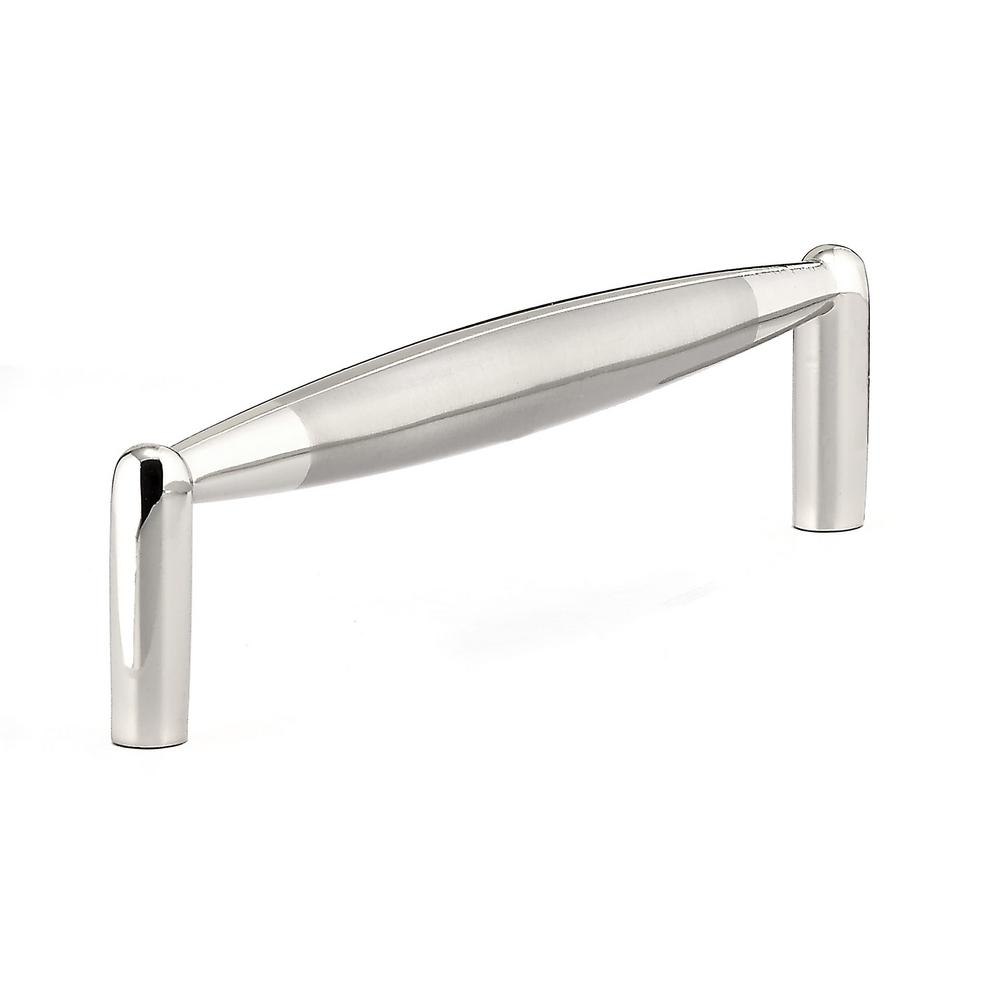 Contemporary 5 in. Chrome and Brushed Nickel Pull