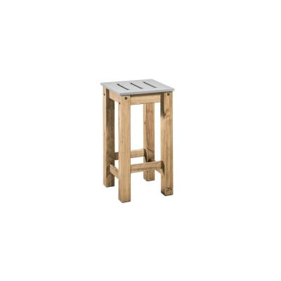 Stillwell 24.8 in. Tall Gray and Natural Wood Barstool (Set of 2)