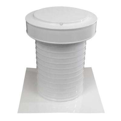 9 in. Dia Aluminum Keepa Static Vent for Flat Roofs in White