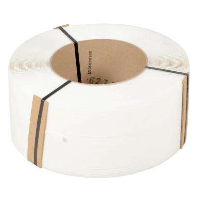 9,900 ft. Roll 9 in. x 8 in. Core White Poly Strapping