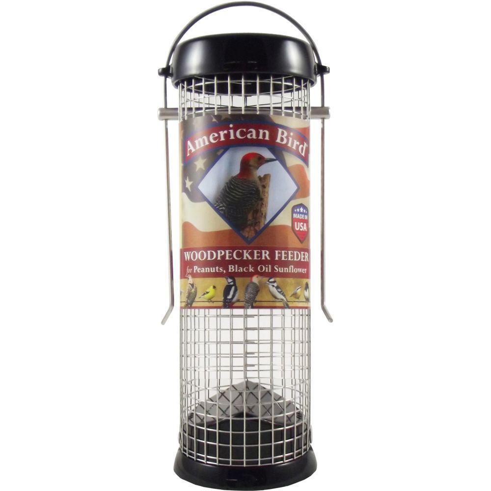 9 in. American Bird Woodpecker Feeder