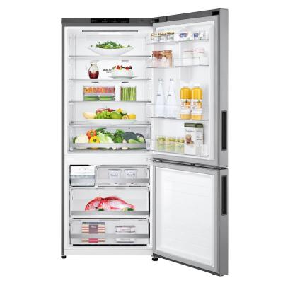 14.7 cu. ft. Bottom Freezer Refrigerator with Door Cooling and Reversible Door in Platinum Silver
