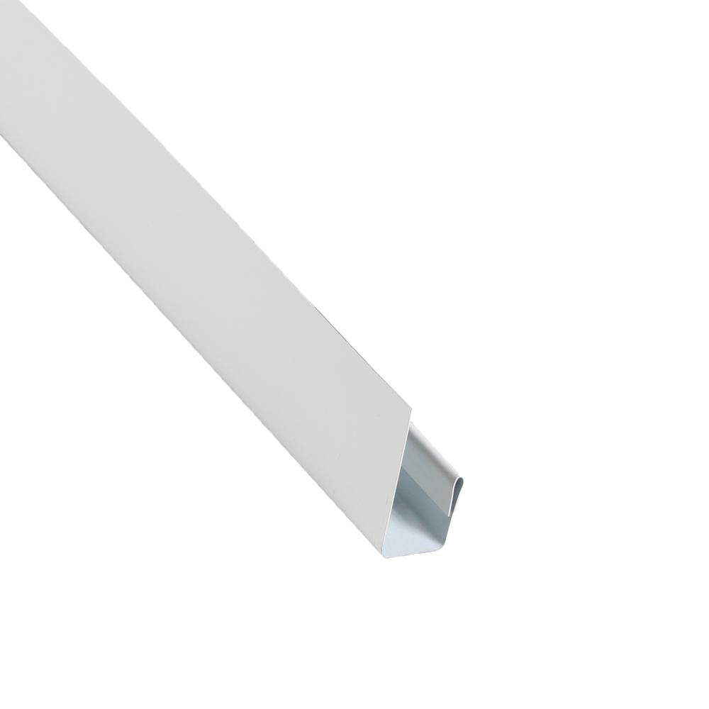 2 in. x 10.5 ft. Steel J-Channel White Drip Edge Flashing