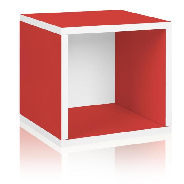 13 in. H x 13 in. W x 11 in. D Red Recycled Materials 1-Cube Storage Organizer