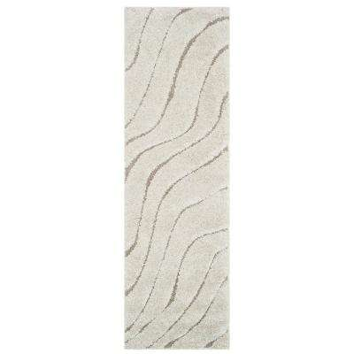 Florida Shag Cream/Beige 2 ft. x 7 ft. Runner Rug