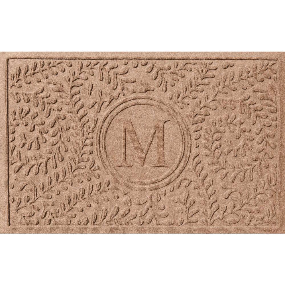 Boxwood Medium Brown 24 in. x 36 in. Monogram M Door