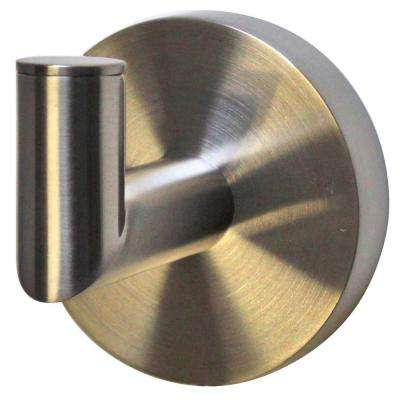 Neo Single Robe Hook in Brushed Nickel