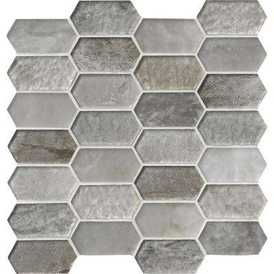 Savoy Picket Pattern 12 in. x 12 in. x 8mm Glass Mesh-Mounted Mosaic Tile (10 sq. ft. / case)