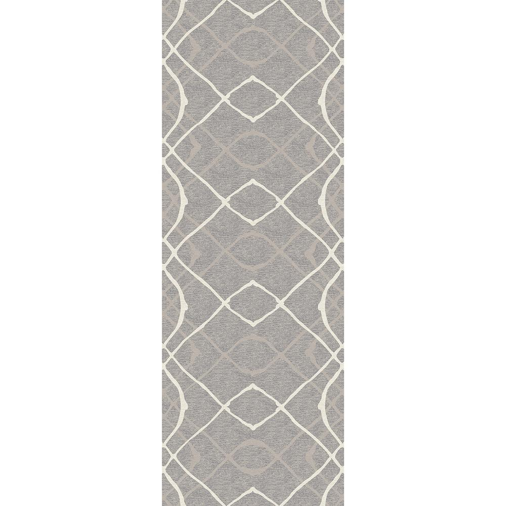 Washable Rugs Home Depot: Ruggable Washable Amara Grey 2 Ft. 6 In. X 7 Ft. Runner
