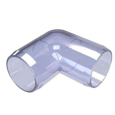 3/4 in. Furniture Grade PVC 90-Degree Elbow in Clear