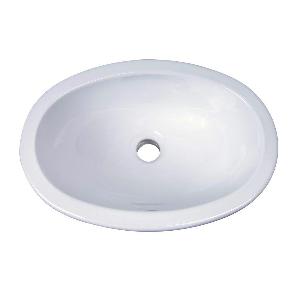 Barclay Products Lily Drop In Bathroom Sink In White 4 525wh The Home Depot