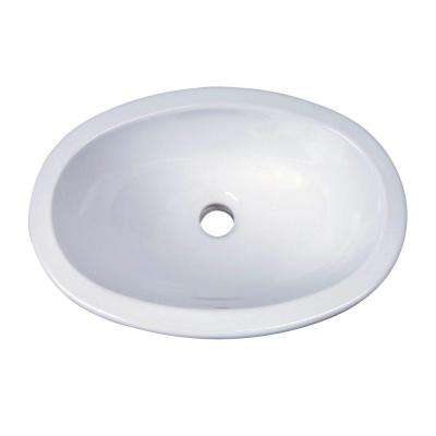 Lily Drop-In Bathroom Sink in White